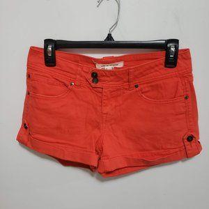life in progress orange denim shorts